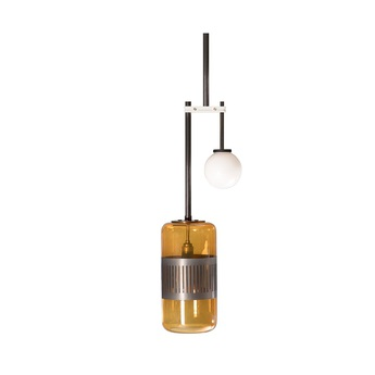 Suspension lizak drop laiton ambre o26 5cm h76 8cm bert frank normal