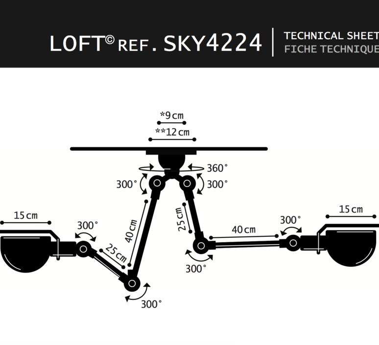 Suspension loft sky blanc l30cm h80cm jielde 37224 product