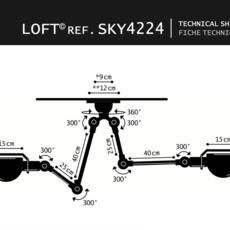 Suspension loft sky blanc l30cm h80cm jielde 37224 thumb