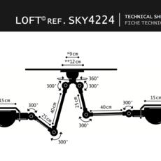 Loft sky jean louis domecq suspension pendant light  jielde sky4224 ral9011  design signed 36836 thumb