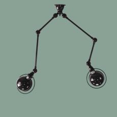 Loft sky jean louis domecq suspension pendant light  jielde sky4224 ral9011  design signed 36837 thumb