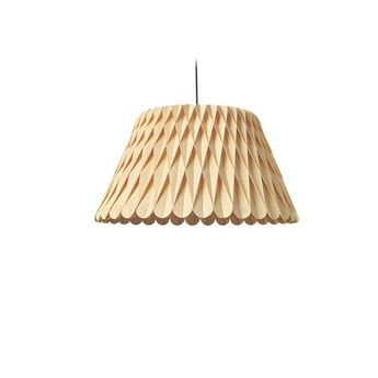 Suspension lola sm naturel led 3000k 1632lm o56cm h30cm lzf normal