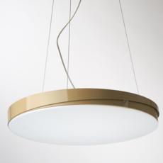 Loola studio brogliatotraverso suspension pendant light  zava loola pendantlamp white ral9010 burnishedbrassoutside  design signed 36477 thumb