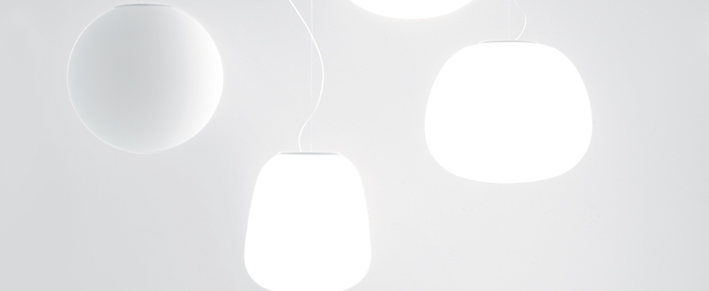 Suspension lumi baka blanc o33cm h38cm fabbian normal