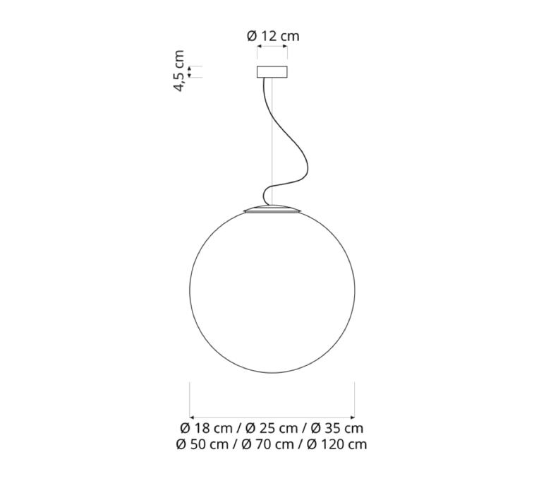 Luna 18  suspension pendant light  in es artdesign in es050018  design signed 38628 product