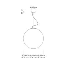 Luna 18  suspension pendant light  in es artdesign in es050018  design signed 38628 thumb