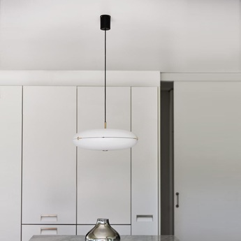 Suspension luna blanc laiton satine led 2700k 4563lm o50cm h22cm tato italia normal