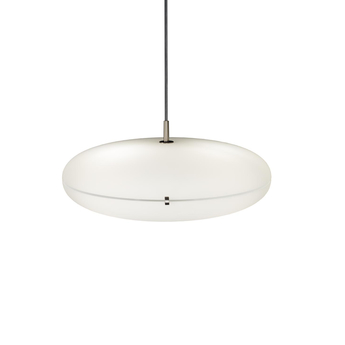 Suspension luna blanc nickel satine led 2700k 4563lm o50cm h22cm tato italia normal