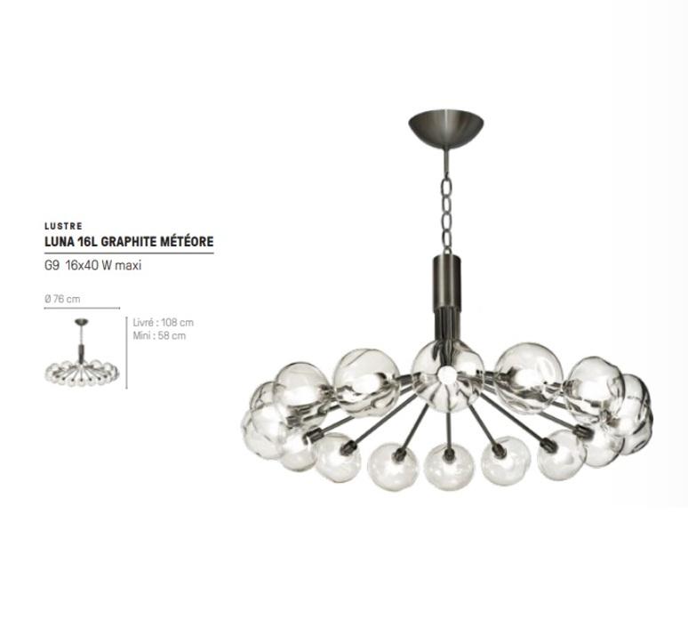 Luna  suspension pendant light  cvl luluna16ghmetec  design signed nedgis 119926 product