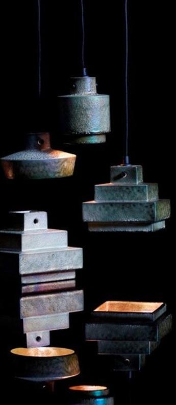 Suspension lustre light round iridescent o11cm h13cm tom dixon normal