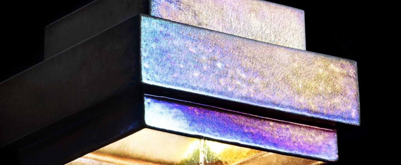 Suspension lustre light square iridescent l15cm h13cm tom dixon normal