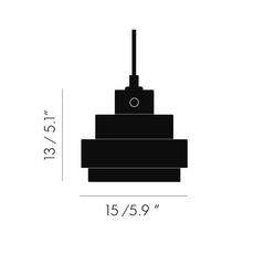 Lustre light square tom dixon suspension pendant light  tom dixon lus03  design signed 48237 thumb