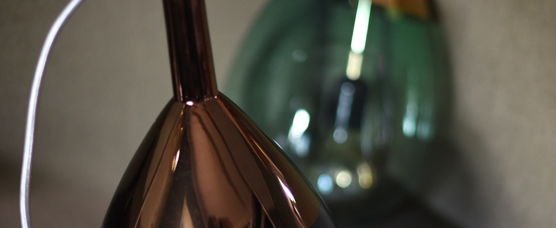 Suspension lute bleu cuivre o22cm ebb and flow normal