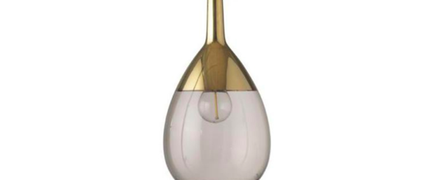 Suspension lute s marron chataigne or o14cm h27cm ebb and flow normal