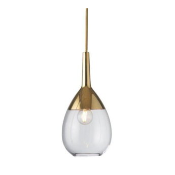 Suspension lute s transparent or o14cm h27cm ebb and flow normal