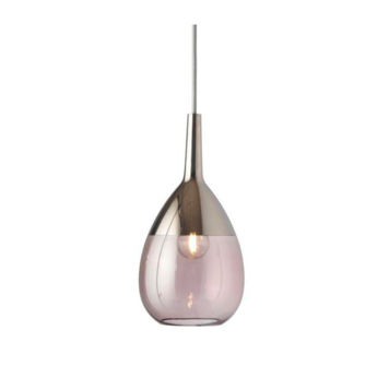 Suspension lute s vieux rose platinium o14cm h27cm ebb and flow normal