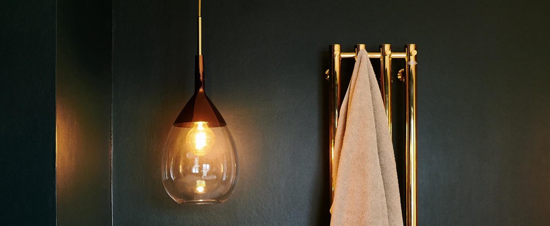 Suspension lute transparent cuivre o22cm ebb and flow normal
