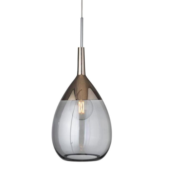 Suspension lute xl gris fume platinium o31cm h70cm ebb and flow normal