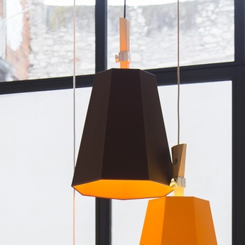 Suspension luxiole marron orange h42cm designheure normal