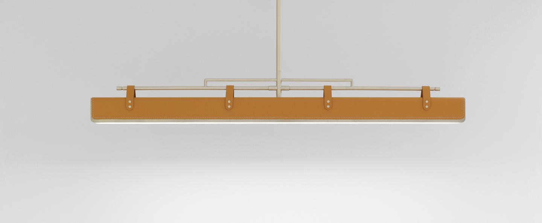 Suspension luxoline laiton led l150cm h8cm lumen center normal