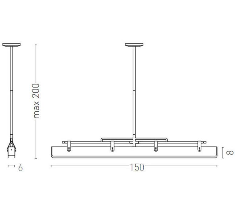 Luxoline villa tosca suspension pendant light  lumen center luxs152cn  design signed 52461 product