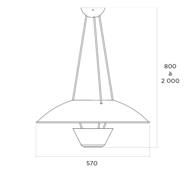 5980 alain richard suspension pendant light  disderot 5980 n  design signed nedgis 84133 product