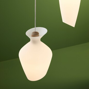 Suspension malvasia blanc led o20cm h31 5cm fabbian normal