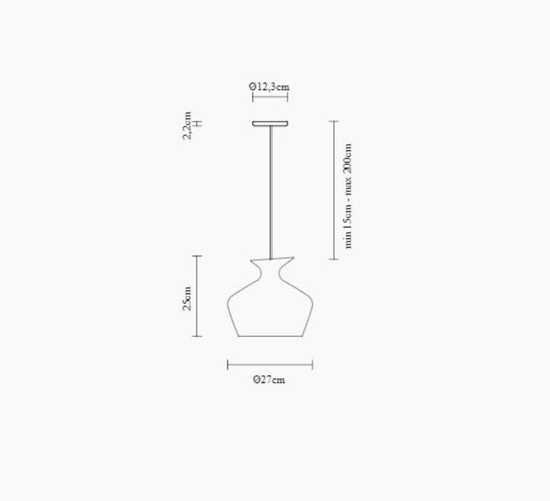 Malvasia gregorio facco suspension pendant light  fabbian f52a05 01  design signed nedgis 87071 product
