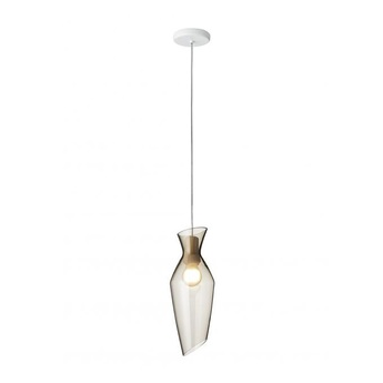Suspension malvasia gris fume led o15cm h41 5cm fabbian normal