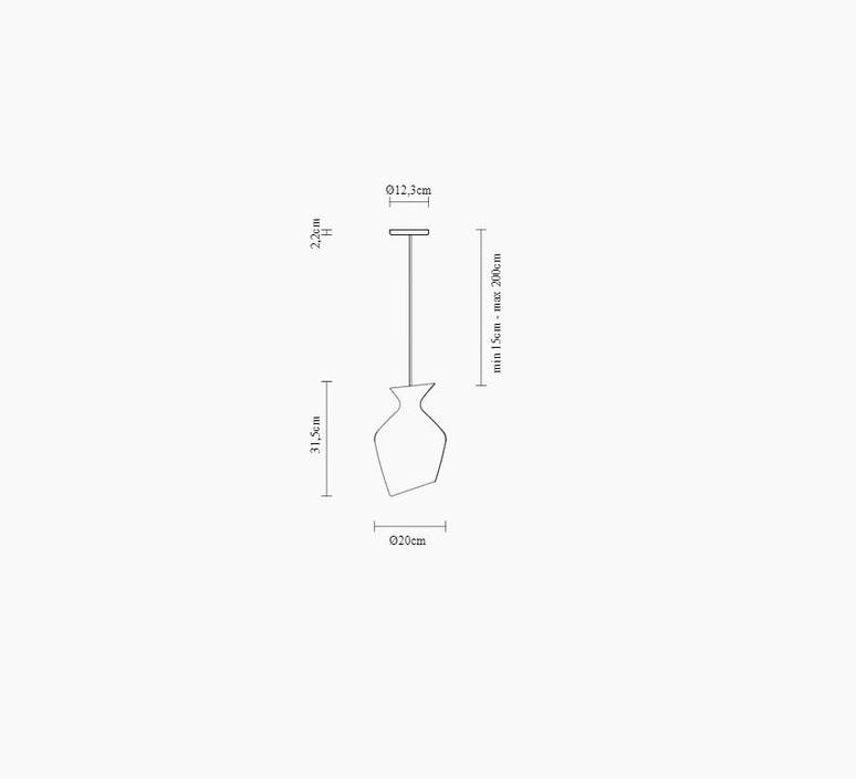 Malvasia gregorio facco suspension pendant light  fabbian f52a03 58  design signed nedgis 87065 product