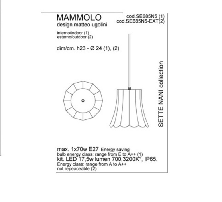 Mammolo matteo ugolini suspension pendant light  karman se685n5 ext  design signed 34860 product