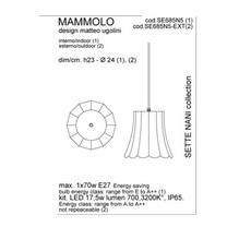 Mammolo matteo ugolini suspension pendant light  karman se685n5 ext  design signed 34860 thumb