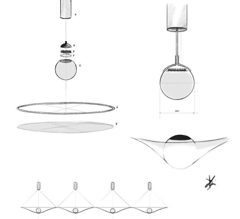 Manto david besozzi suspension pendant light  axolight spman120grxxled  design signed nedgis 109921 product