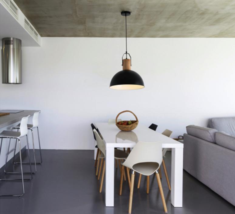 suspension margot bois noir led 41 5cm h23cm faro. Black Bedroom Furniture Sets. Home Design Ideas