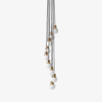 Suspension mass light chandelier laiton o37cm h18cm andtradition normal