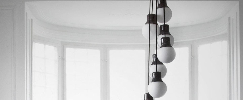 Suspension mass light chandelier noir o37cm h18cm andtradition normal