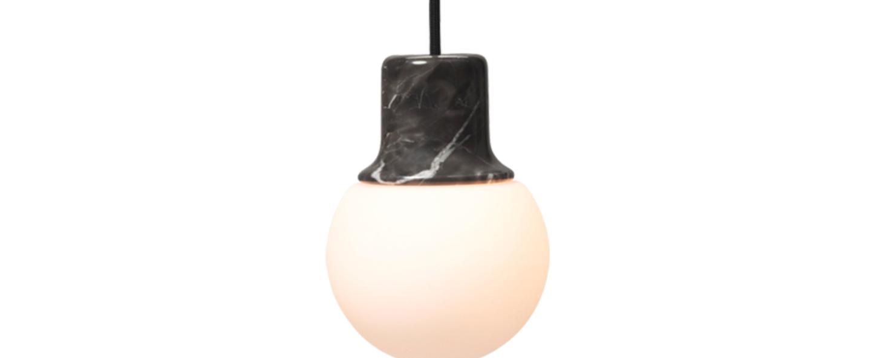 Suspension mass light marbre noir o12 6cm h18 3cm andtradition normal