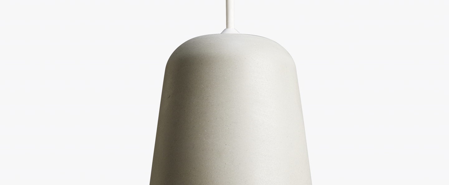 Suspension material light grey concrete gris h14cm o 13cm new works normal