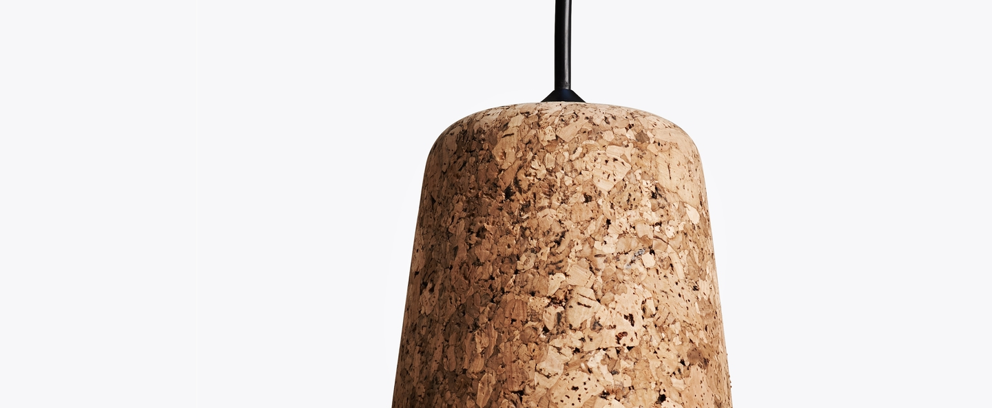 Suspension material mixed cork liege h14cm o 13cm new works normal