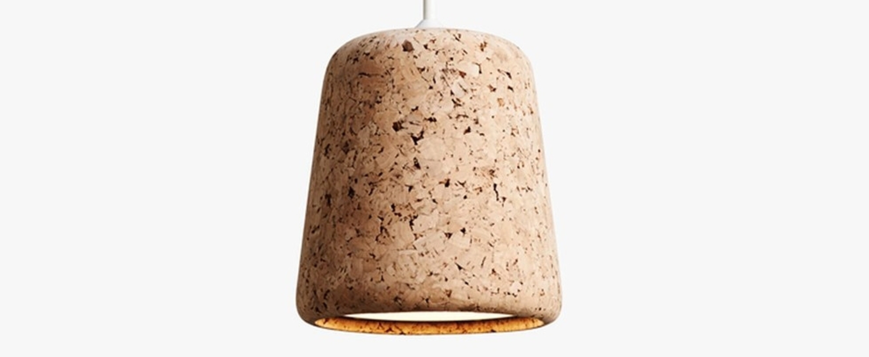 Suspension material natural cork liege h14cm o 13 cm new works normal