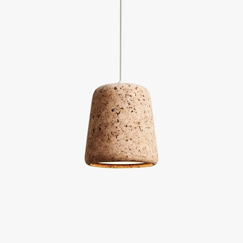 Suspension material natural cork liege h14cm o 13 cm new works normal
