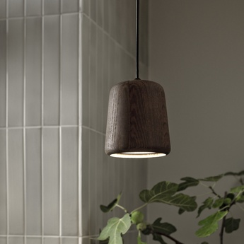 Suspension material smoked oak bois marron h14cm o 13 cm new works normal