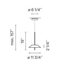Mayfair diego fortunato suspension pendant light  vibia 552593 1b  design signed nedgis 80044 thumb