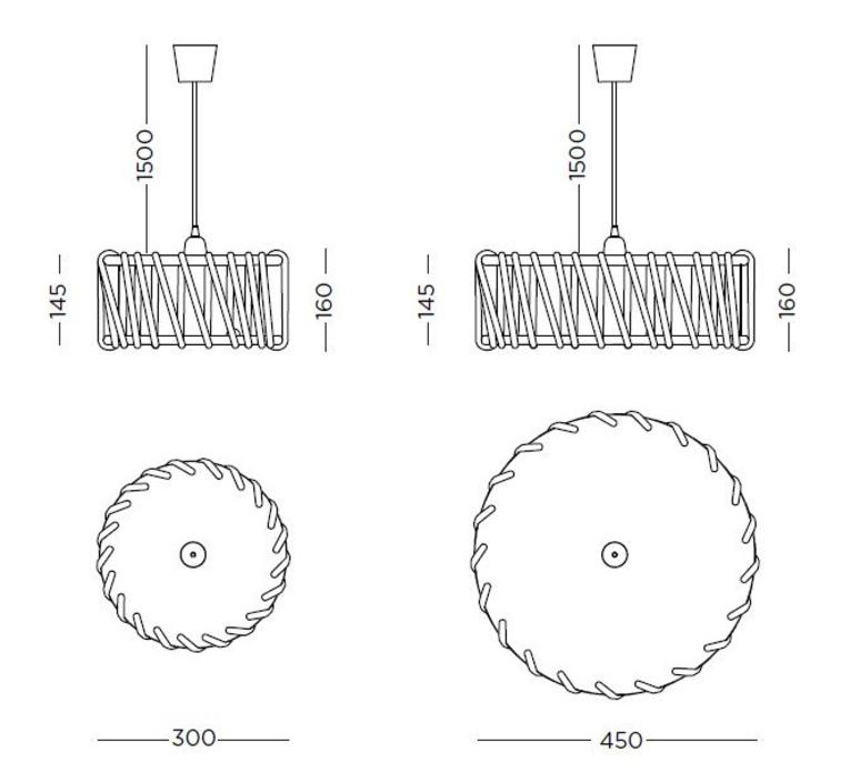 Mch45yellow silvia cenal suspension pendant light  emko mch45yellow  design signed nedgis 71872 product