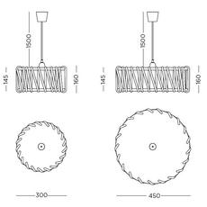 Mch45yellow silvia cenal suspension pendant light  emko mch45yellow  design signed nedgis 71872 thumb