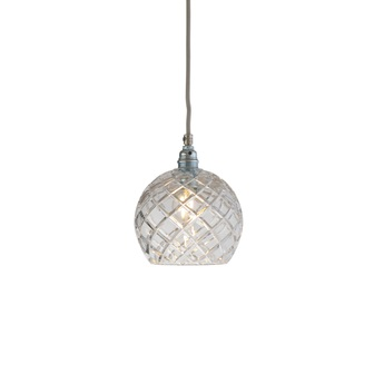 Suspension medium check crystal rowan 15 5 transparent argent o15cm h15cm ebb and flow normal