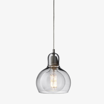 Suspension mega bulb sr2 argent transparent o18cm h23cm andtradition normal