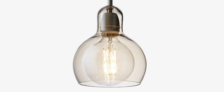 Suspension mega bulb sr2 or transparent o18cm h23cm andtradition normal