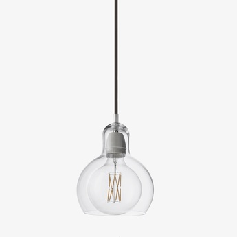 Suspension mega bulb sr2 transparent noir o18cm h23cm andtradition normal