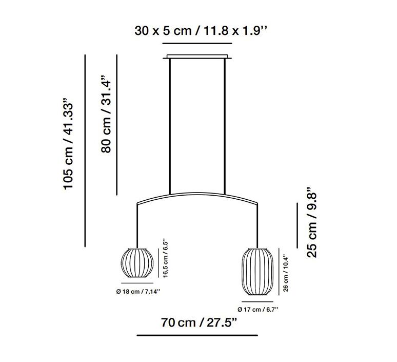 Mei nahtrang design suspension pendant light  carpyen 3371200 pan1330 pan1331  design signed nedgis 123176 product